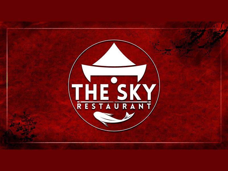 Sky Restaurant Logo & Title Design photoshop illustrator restaurant food chinese logo