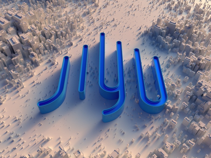 JIYU brand 3D visual Design buliding jiyu brand ux web ui c4d visual design 3d art 3d octane visual illustration