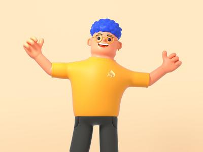 It's me! Yuson Ji~ character cinema4d octane illustration