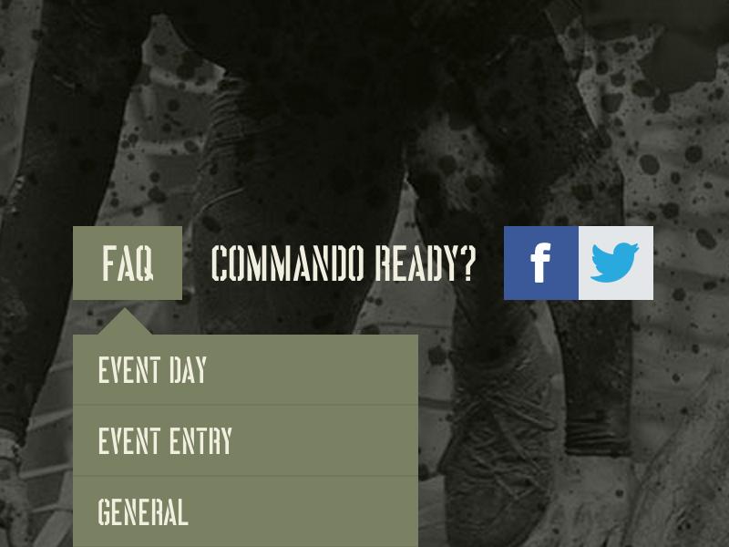 Commando Navigation navigation menu dropdown