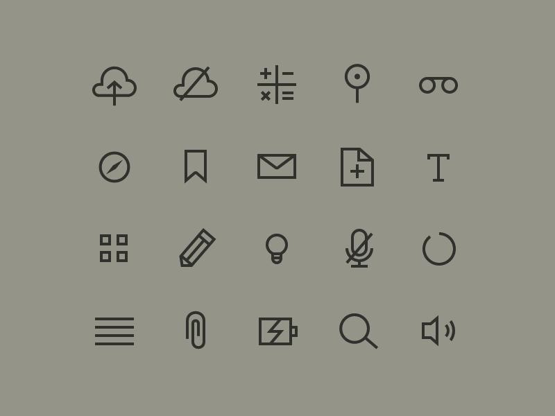 Skinny Icons icons icon