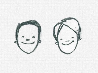 Smug Fellas happy characters sketch