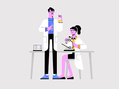 Medical Lab Workers shakuro flat scientist coronavirus virus work professional person medicine medical illustration medical job hospital character career vector doctor laboratory illustration