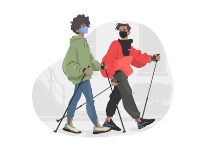 COVID Reality — Exercise Wearing a Face Mask graphic flat illustration flat boy character fitness quarantine quarantine life covid 19 face mask character illustration illustration art character design illustrator shakuro character vector design art illustration