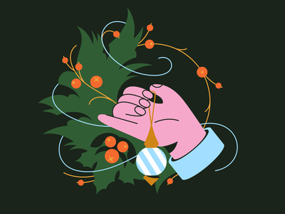 Christmas Decorations 🎄 christmas bauble tree winter holidays xmas happy new year happy christmas happy holidays digital art character illustration illustration for web christmas party christmas tree christmas illustration art shakuro character art illustration