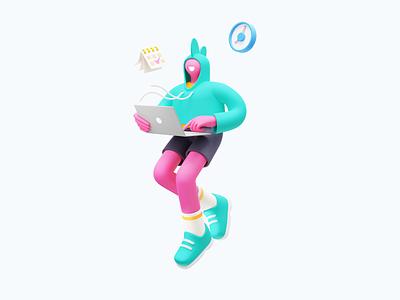 Conceptzilla: Sticking To Deadlines freelance 3d illustration 3d art 3d graphic digital art character illustration deadlines illustration for web character design illustration art illustrator vector character shakuro design art illustration