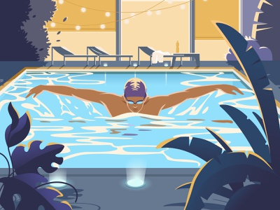 Active Characters: Swimming sport swim active swimming pool swimming graphic digital art character illustration illustration for web flat character design illustration art illustrator character vector shakuro design art illustration