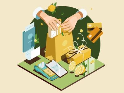 Restaurant Business Illustration: Service, Payment, Takeaway inspiration food delivery real estate vector illustration business restaurant