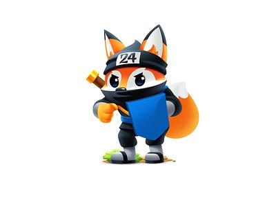 Fox Mascot Illustration fox mascot mascot design hosting company fox logo fox illustration mascot logo fox character animal warrior logo illustration for web digital art mascot fox character vector illustrator design art illustration
