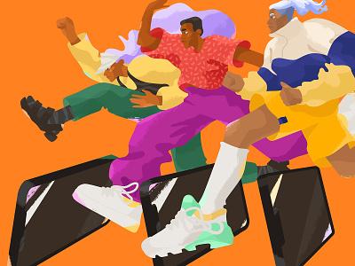 Trendy Youth Illustration sneakerheads sneakerhead graphic illustration art character design character illustration digital art illustration for web trendy illustration street style youth illustration character vector illustrator art design illustration trend trends