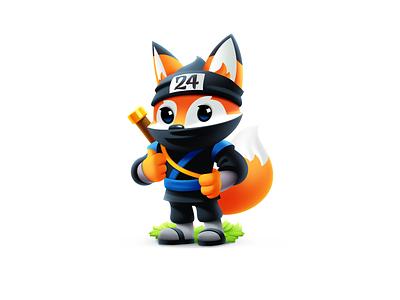 Fiery Fox Mascot warrior fox character fox illustration fox logo hosting company mascot design fox mascot animal digital art illustration for web illustration art fiery fox mascot fox character vector shakuro illustrator art illustration