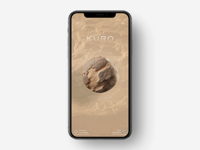 Planet Research App Animation visualization transition universe ux ui sphere spectral analysis space animation motion design planet model mobile app iphone xs xr iphone x ios galaxy functions data cosmic body research
