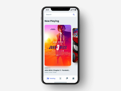 Cinema Tickets App Animation product design ux ui kit ui transition pay movie presentation movie motion design mobile iphone xs xr iphone x ios app design interaction film cinema tickets animation