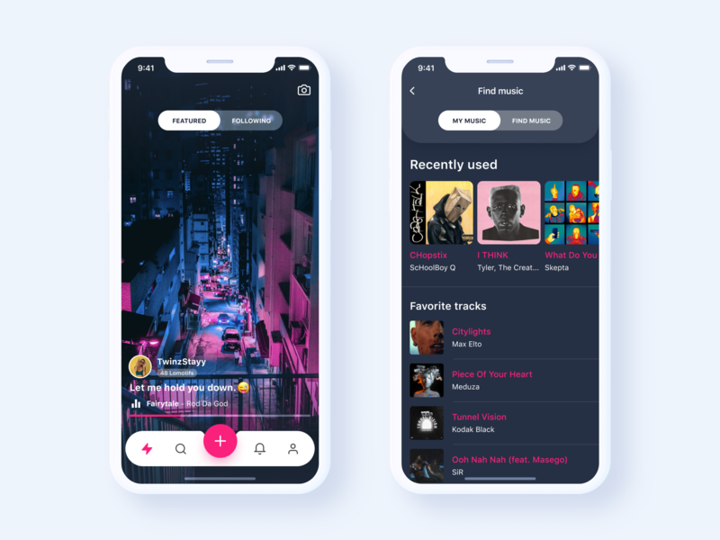 Lomotif App Redesign Concept video app product design phone music app music player player musical music experience color redesign iphone xs xr iphone x app ios mobile design concept ux ui