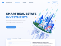 Real Estate Investments Home Page Concept