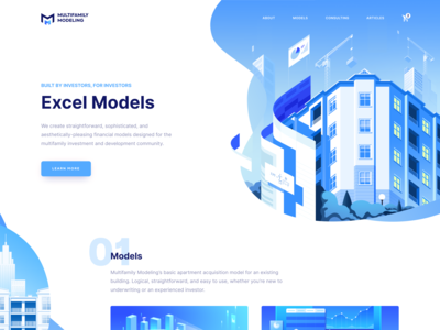 Blue Business Landing Page