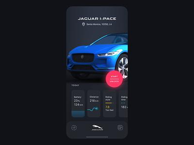 Jaguar Car Assistant App Concept automobile system interaction iphone xs xr iphone x ios app motion design jaguar car assistant transition animation mobile ux ui
