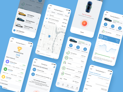 Volkswagen App Redesign ios app iphone xs xr map assistant functions remote control car control ios redesign volkswagen iphone x app mobile ux ui