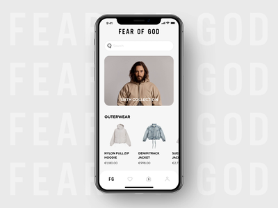 Fear Of God Fashion Store App Concept