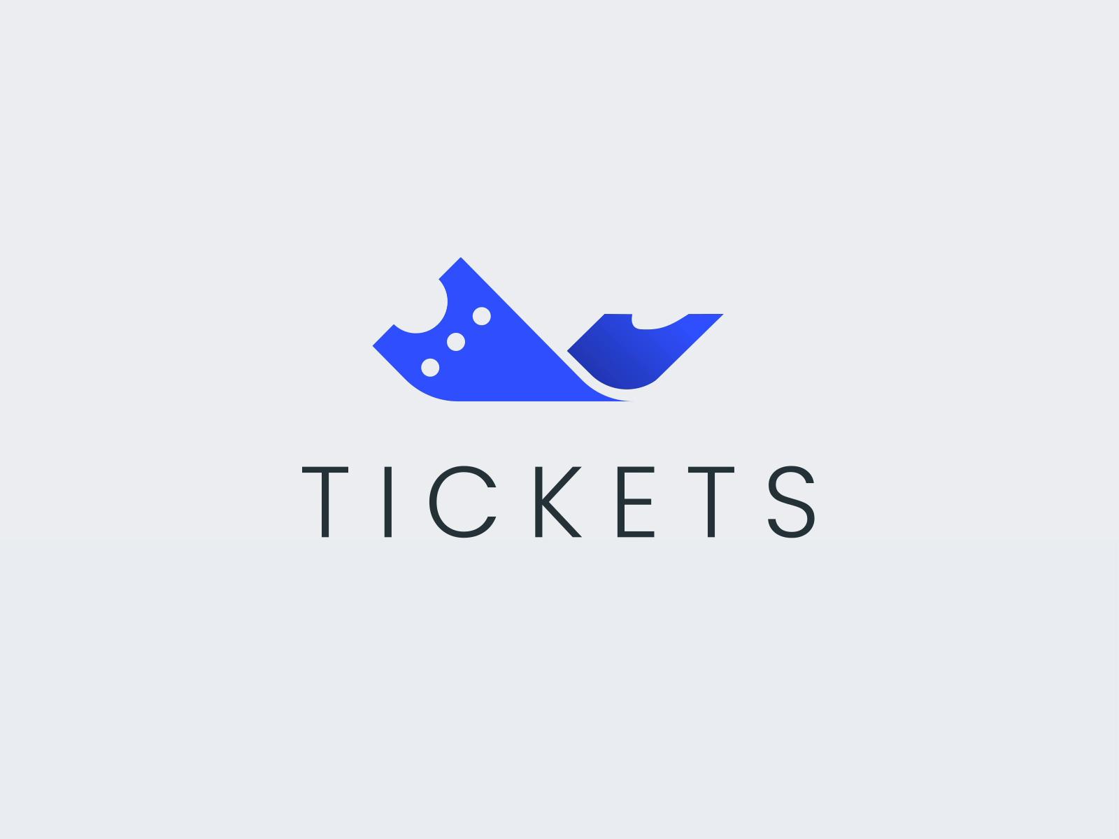 Cinema tickets logo animation