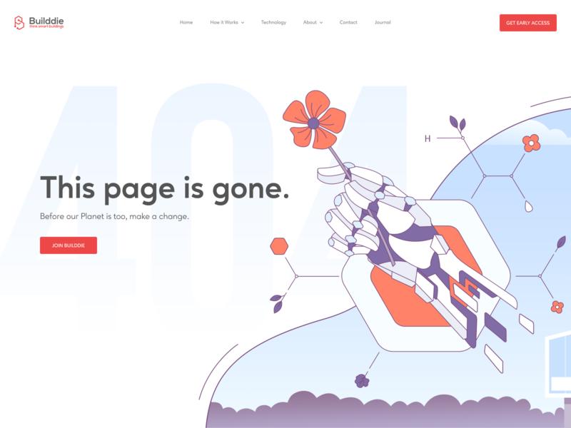 404 Page Design illustration for web illustration technology tech smart home error 404 404 page homepage landing page website web design ux ui
