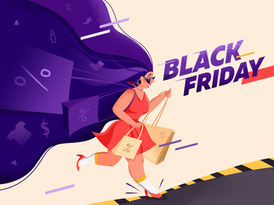 Black Friday Illustration black friday sale sale black friday illustration adobe photoshop character design design art illustration black friday