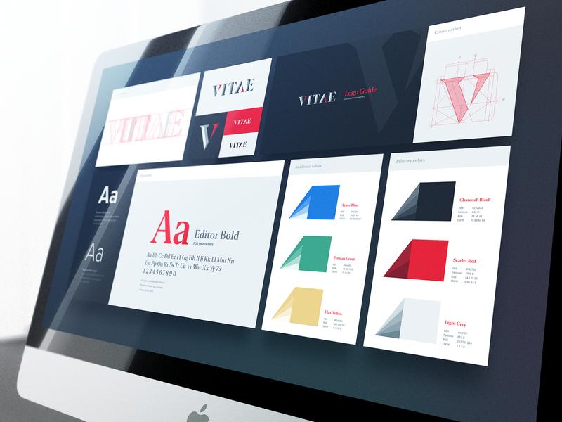 Logo Branding for VITAE logo branding font type illustration assets brand identity logo guide online network design art branding logo