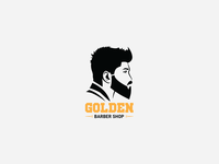 Logo - Golden Barber Shop