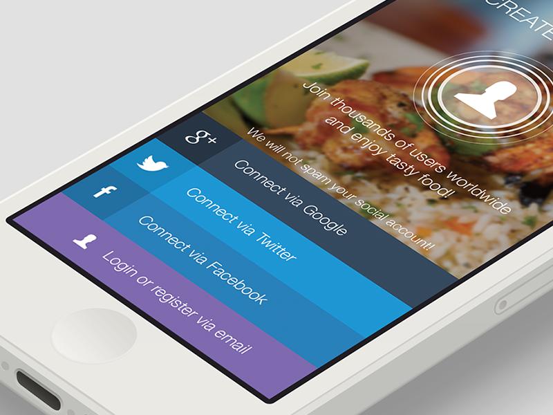 restaurant rating app by goran dribbble. Black Bedroom Furniture Sets. Home Design Ideas