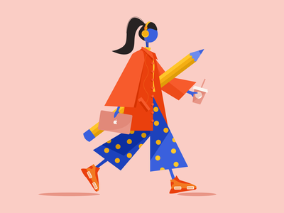 Hello Dribbble! web design illustration