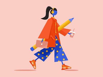 Hello Dribbble! web design illustration