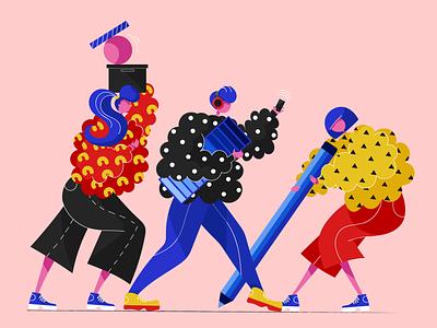 Let's get designing! illustrators designers vector dribbble people illustrator web illustration design