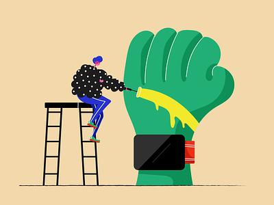 Hulk Watch watch design watch illustrators designers vector dribbble people illustrator web illustration design
