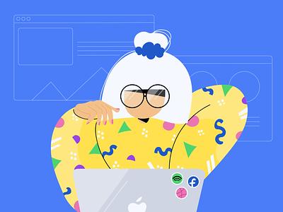 Let's get hacking vector dribbble people illustrator web illustration design