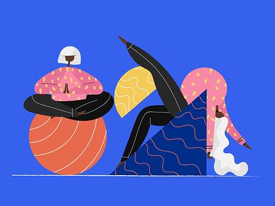 Yoga girls yoga illustrators vector people illustrator dribbble web illustration design