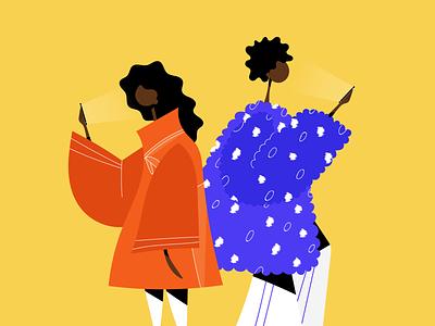 Selfie Time vector people illustrator dribbble illustration design