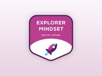 Brand Value Stickers — Explorer Mindset