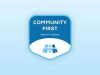 Brand Value Stickers — Community First