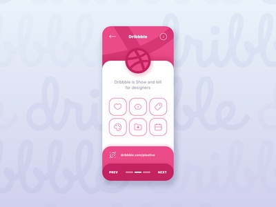 Dribbble Debut Shot By Plastive