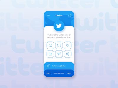 Twitter App Card Ui By Plastive