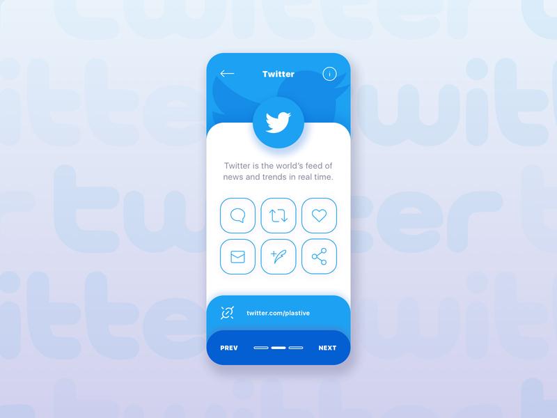 Twitter App Card UI Design debut twitter canada toronto studio agency creative plastive design ui ux app minimal mobile social socialmedia