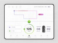 Car Dashboard Ui Design Light plastive clean design interface ux ui dashboard car