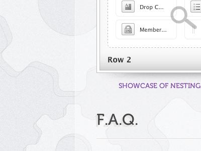 close up  ui design layout violet grey