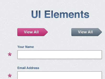 UI Elements ui elements layout buttons form fields fresh pink graphite