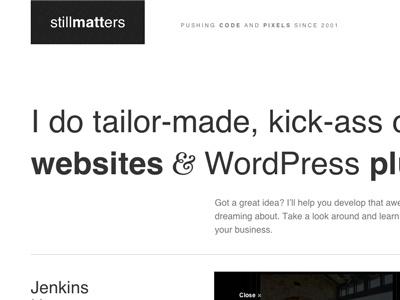 #stillMatters layout responsive portfolio hellvetica grid