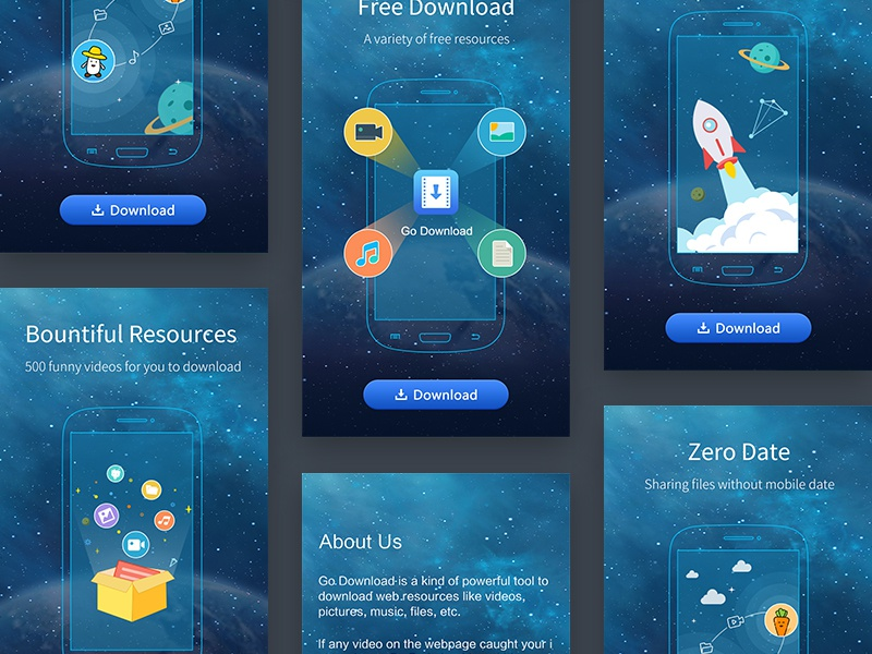 App Start page by Summer Ching on Dribbble