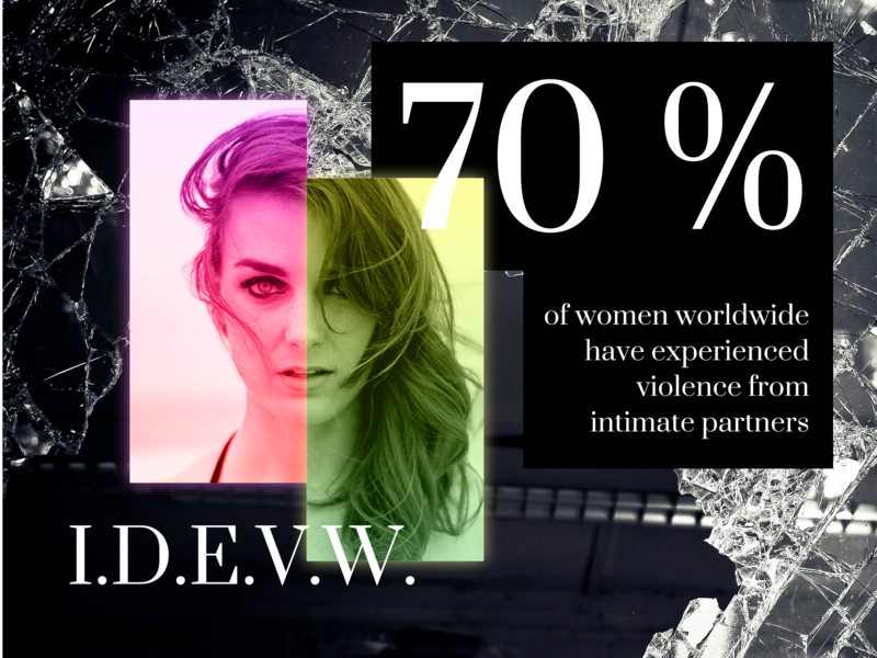 I.D.E.V.W. 2018 campaign vector ui stats breakdown rights women design visual art typography graphic  design