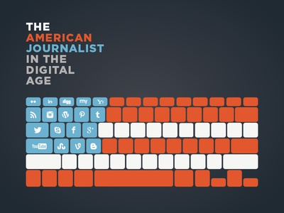 The American Journalist cover america american journalist digital illustration flag social media simple