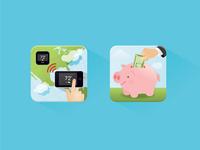Energy Savings Icons