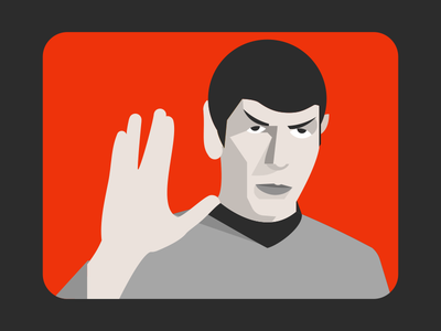 Live long and prosper spock star trek tv television illustration movie